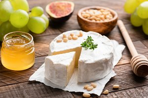 Brie or camembert cheese