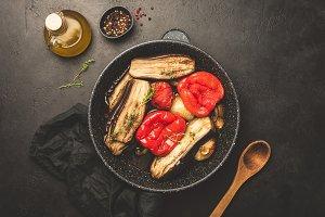 Grilled or roasted vegetables