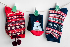 Christmas socks for all family