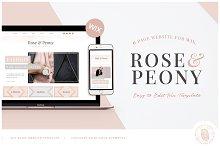 ROSE & PEONY | WIX Blog Template