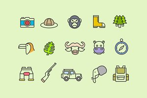 15 Jungle Icons