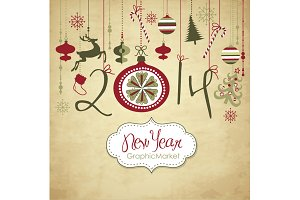 2014 year Digital Clip Art