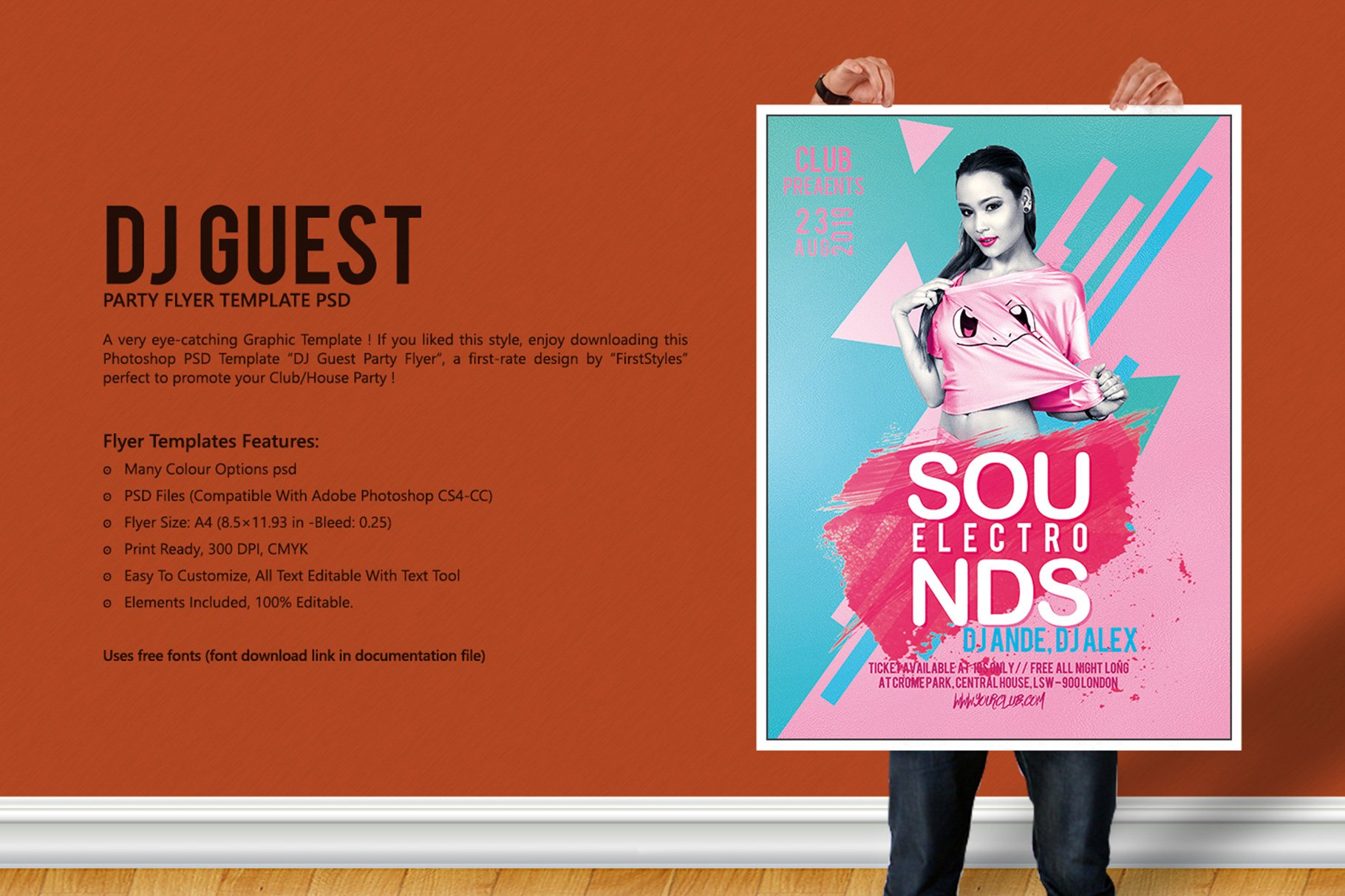 DJ Guest Party Flyer ~ Flyer Templates ~ Creative Market