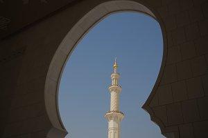 Interior view to Sheikh Zayed Mosque