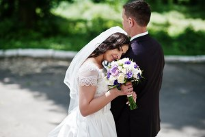 Magnificent wedding couple backgroun