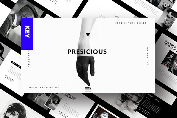 Presentation Templates: Dirtytemp Studio - Presicious - Keynote
