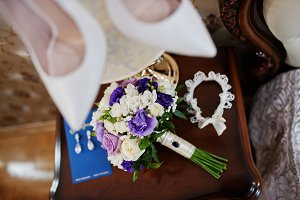Brides luxury wedding bouquet with a