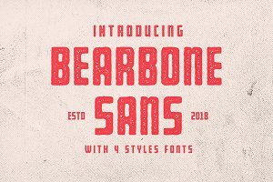 Bearbone Sans (8 Fonts Total!)