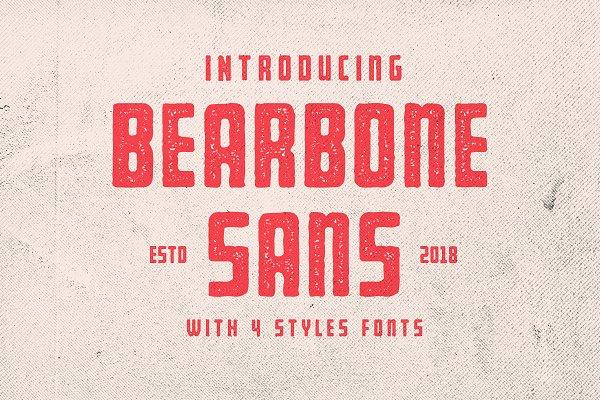 Sans Serif Fonts: Martype Co - Bearbone Sans (8 Fonts Total!)