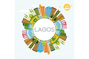 Lagos Nigeria City Skyline