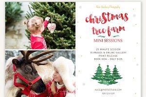 Christmas Tree Farm Mini Template