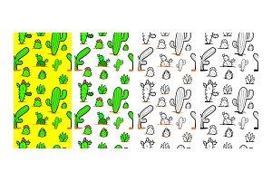 Seamless Cactus Vector