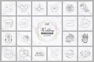 SALE! Wedding Monogram Collection
