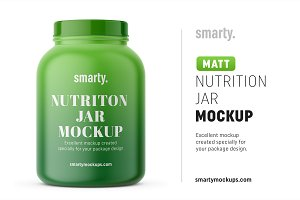 Big nutrition jar mockup