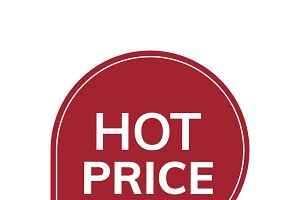 Hot price red badge vector