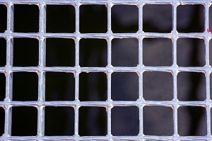 Silver metallic grating of squares
