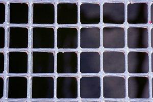 Silver metallic grating of squares