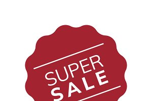 Super sale promotion badge vector