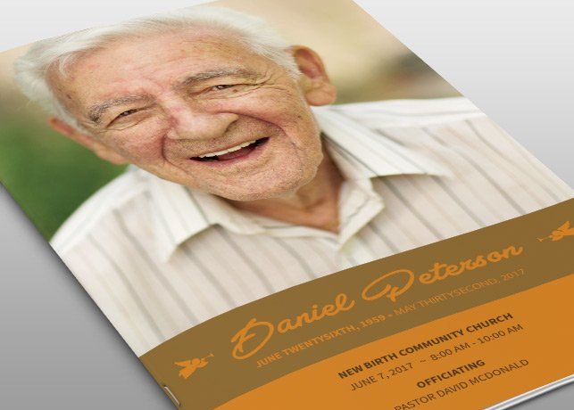 Naples Funeral Program Template ~ Brochure Templates ~ Creative Market
