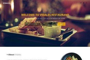 Vidales - Restaurant Landing Page