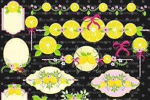 Lemons and Lemonaide Clipart AMB-891