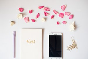 Styled Notebook - #Goals - Feminine