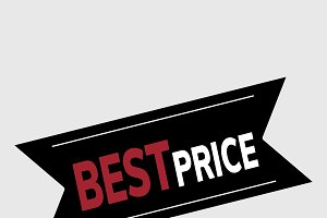 Best price promotional banner vector