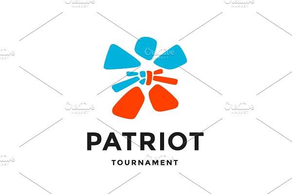 Fighter logo. Simple logo in modern