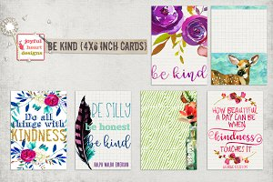 Be Kind {4x6 inch journal cards}