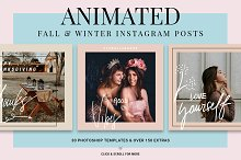 Holiday ANIMATED Instagram Posts by  in Social Media