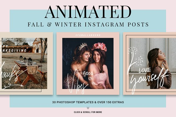 Instagram Templates - Holiday ANIMATED Instagram Posts