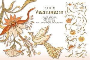 Art Nouveau Elements Set