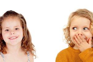 Surprised couple of children