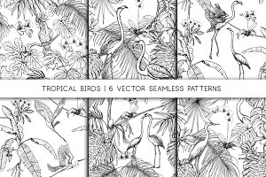 Classic Engraving Tropical pattern
