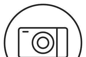 Camera stroke icon, logo