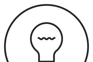 Light Bulb stroke icon, logo