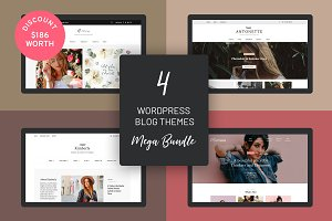 4 WordPress Blog Themes Mega Bundle