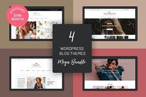4 WordPress Blog Themes Mega Bundle