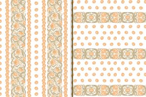 Floral pattern in Art Nouveau Style