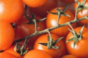 Group of fresh ripe cherry tomatoes