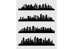 City silhouette collection