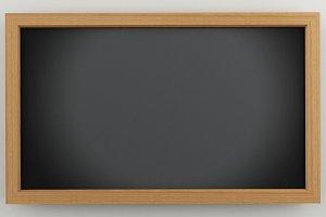 3d Empty Black Chalkboard