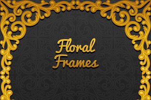 Frames with floral ornament