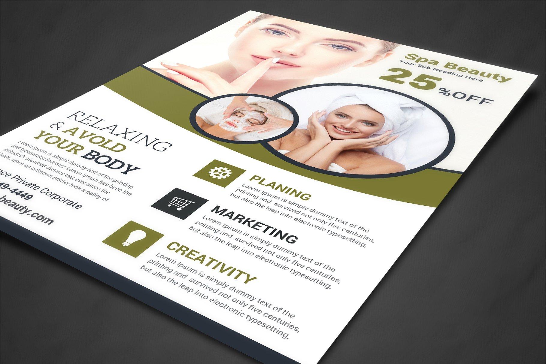 Spa Beauty Flyer Template Flyer Templates Creative Market Pro
