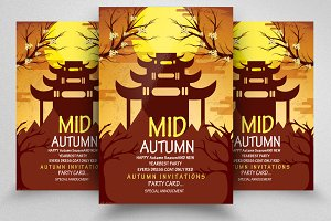 Mid Autumn Flyer Templates Vol: 10