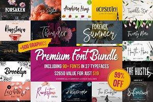 Premium Font Bundle (90+ Fonts)