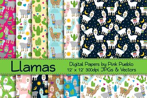 Llama Patterns or Backgrounds