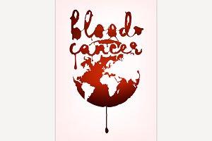 Blood cancer lettering