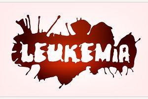 leucaemia disease lettering