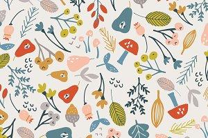 Fall Foliage Seamless Vector Pattern